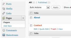 Edit contact page in WordPress
