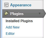 Go to plugins in the WordPress Dashboard