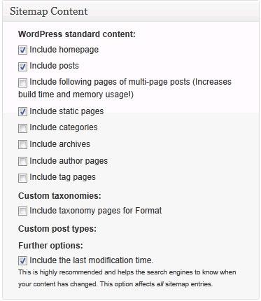 Sitemap Content