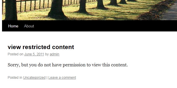 View restricted content