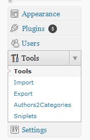 Admin in tools